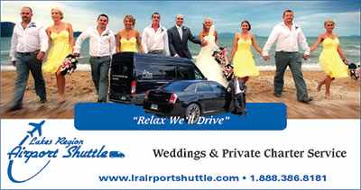 Book Lakes Region for Wedding and Event Transportation